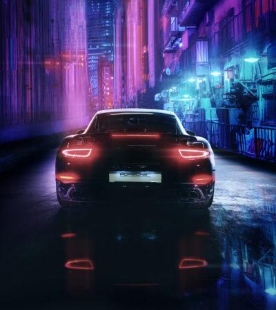 Ukraine, Kyiv - May 5 : Porsche 911 turbo S taillights back details